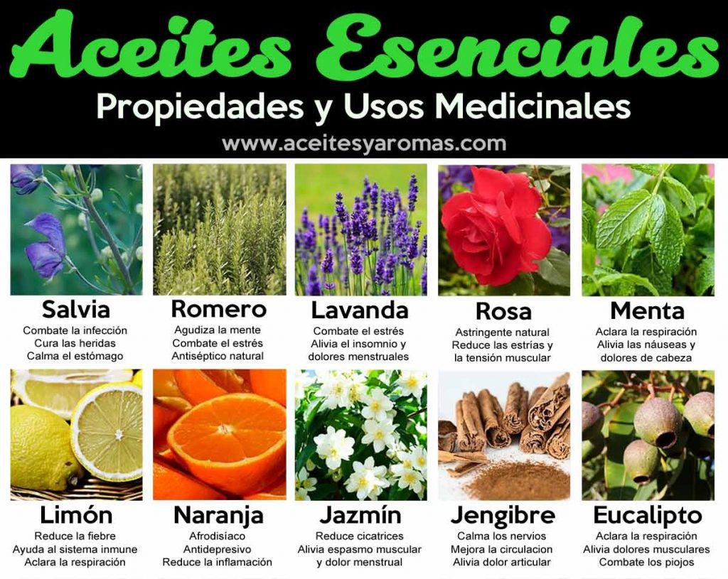 Aceites esenciales: usos y propiedades