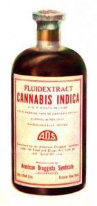 Aceite de cannabis en botella